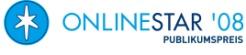 investinformer.de beim Onlinestar 2008 in der Kategorie Geld & Karriere